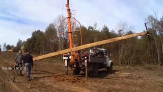 Установка опоры СВ-95(ГК «АльянсЭнергоСтрой» осуществляет проектирование, электромонтажные и пусконаладочные работы и обслужи..., 2014-01-10T09:29:15.000Z)