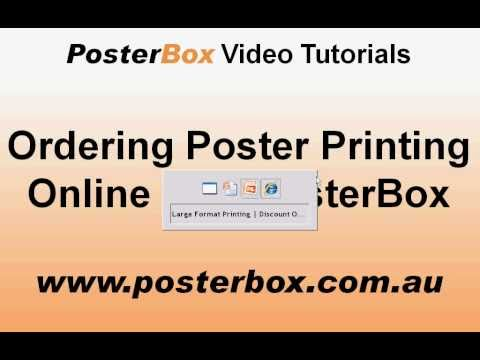 Ordering Poster Printing Online