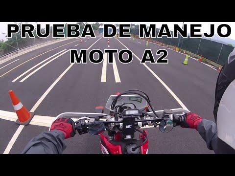 Prueba de manejo moto 2017 - Licencia A2 A3 - Sede Heredia - Costa Rica