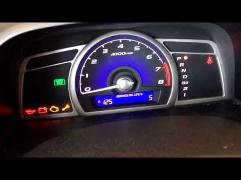 How to reset Maintenance light on 2006-2009 Honda Civic