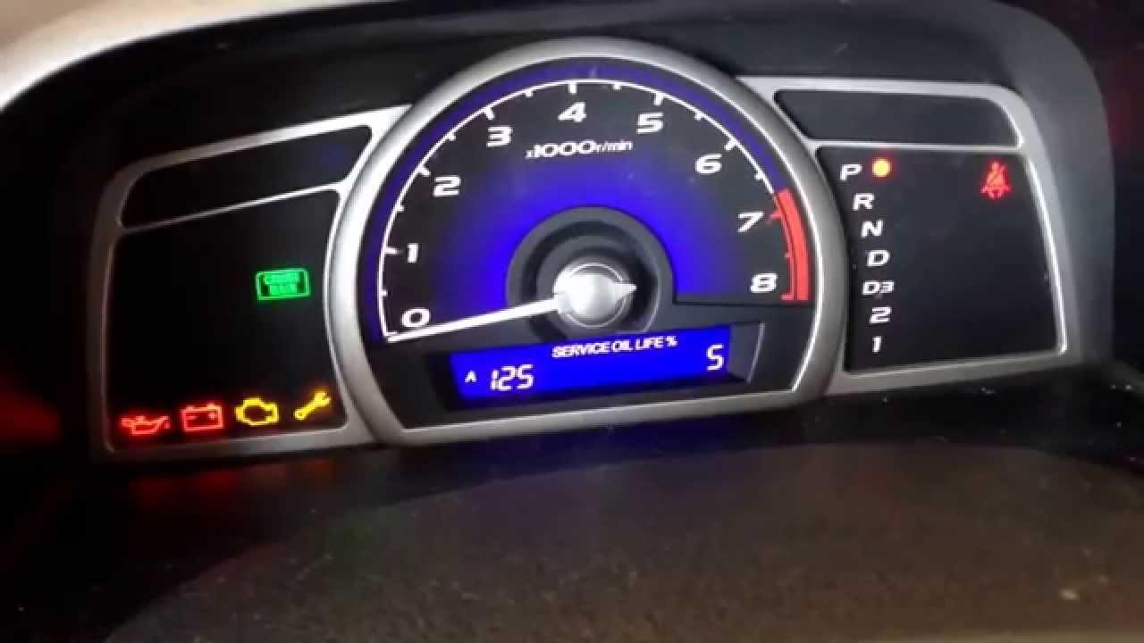 How To Reset Oil Light On 2006 Honda Civic