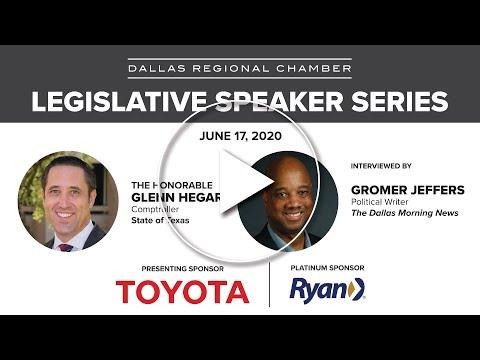Legislative Speaker Series   Comptroller Glenn Hegar