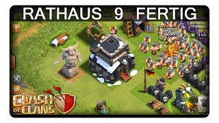 RATHAUS 9 FERTIG || CLASH OF CLANS | Let's Play CoC