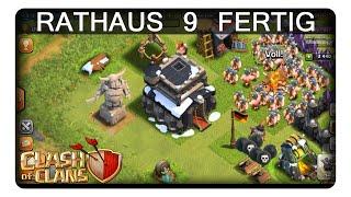 RATHAUS 9 FERTIG || CLASH OF CLANS | Let's Play CoC
