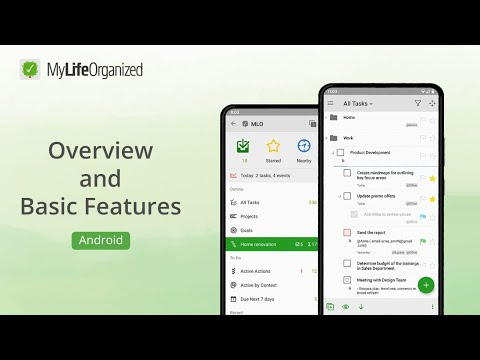 Overview and Basic Features of MyLifeOrganized task manager for Android v2
