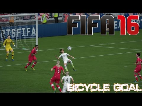 Awesome Bicycle Goal BY ALEX MORGAN  (FIFA 16)