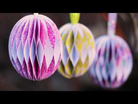 Paper Honeycomb Easter Egg Tutorial 🐣 Easter Papercrafts