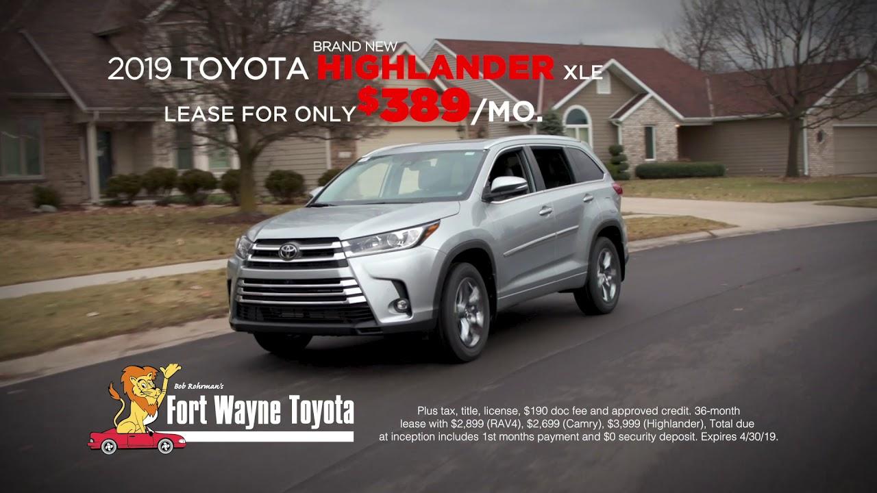 Fort Wayne Toyota April 2019 Bob Rohrman
