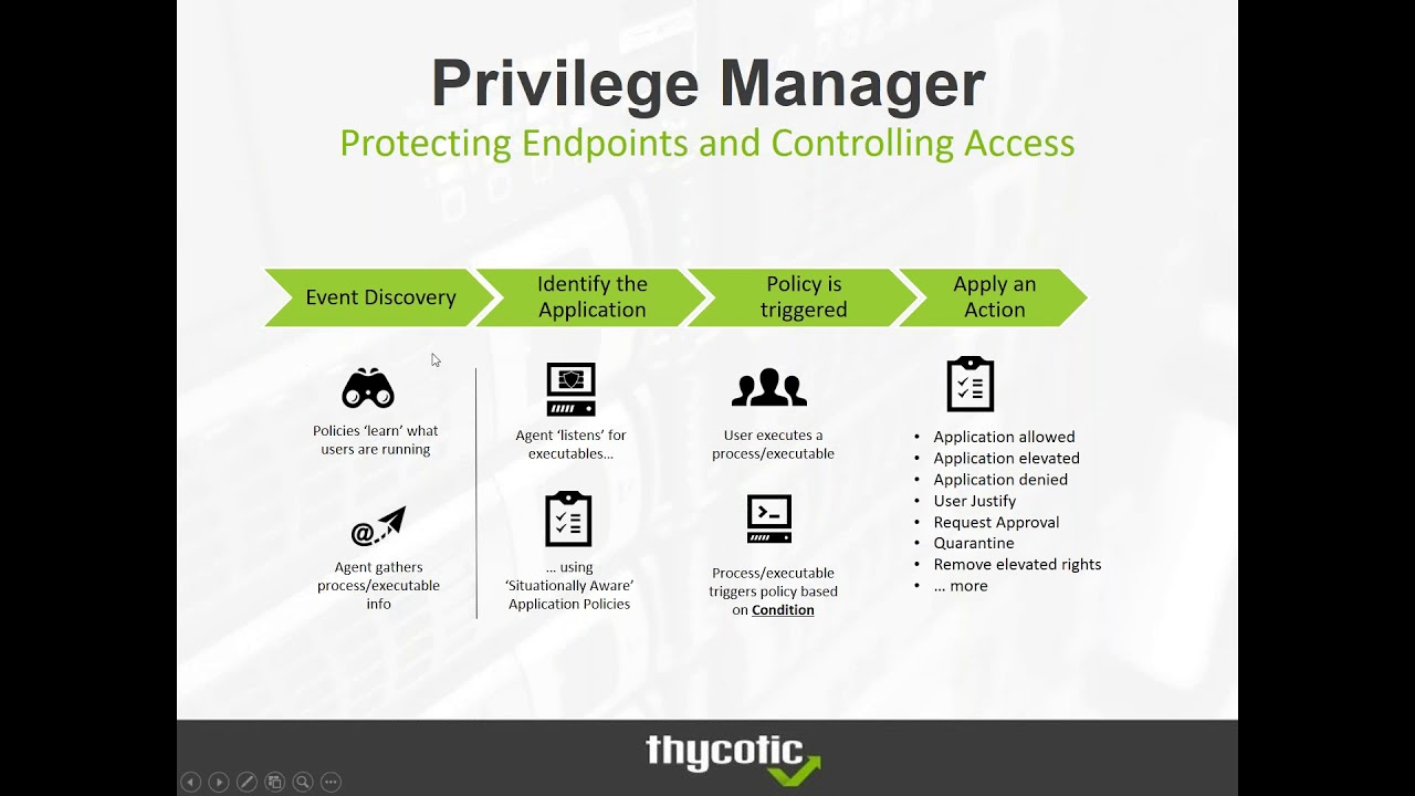 Introduction to Thycotic Privilege Manager