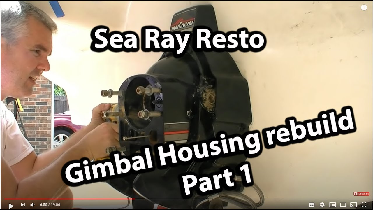 medium resolution of rebuilding the gimbal housing and the bellows replacement part 1