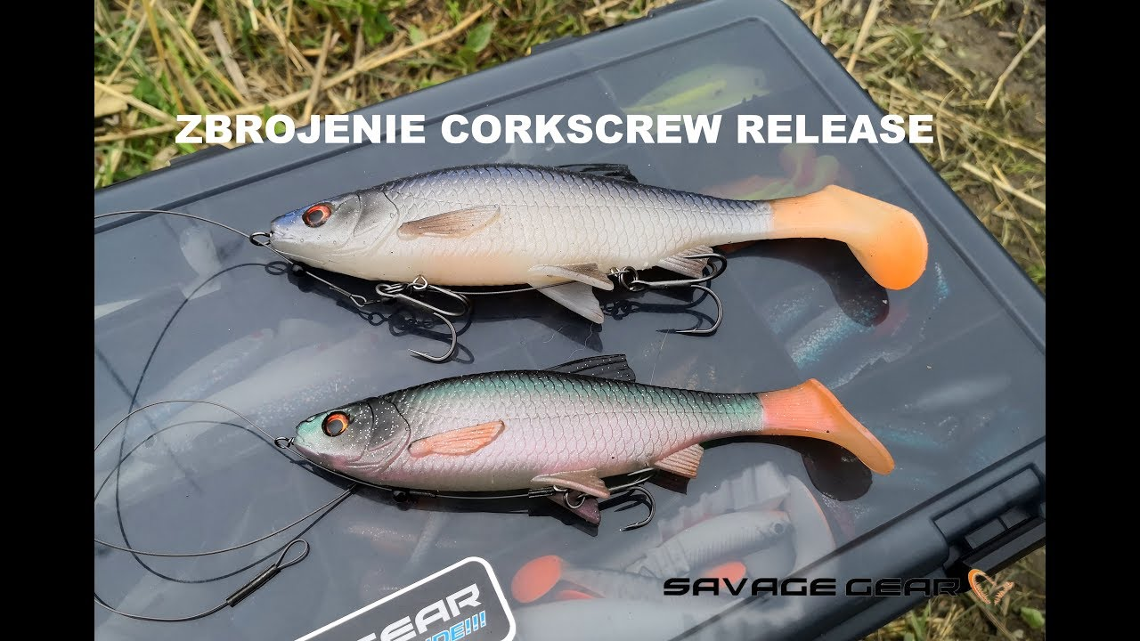 Savage Gear Corkscrew Release Rigs for Soft Lures Pike Zander Fishing Tackle