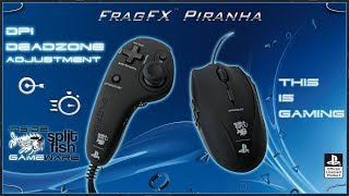 DPI & DEADZONE ADJUSTMENT [DEUTSCH] - SUPPORT VIDEO FRAGFX PIRANHA PS4 - SPLITFISH GAMEWARE