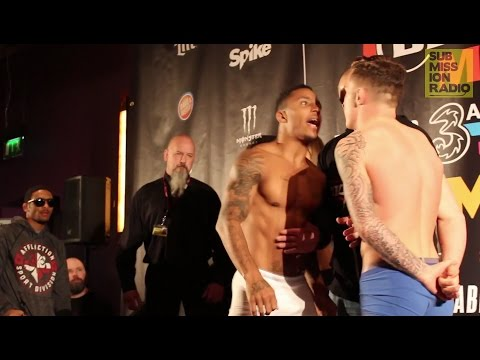 James Gallagher vs. Anthony Taylor HEATED Weigh-Ins | Bellator 169