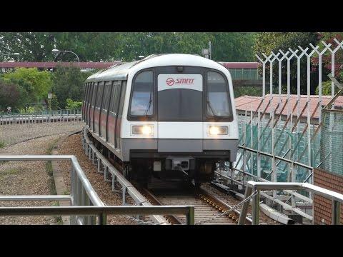 Singapore MRT North South Line C151 Train at Ang Mo Kio