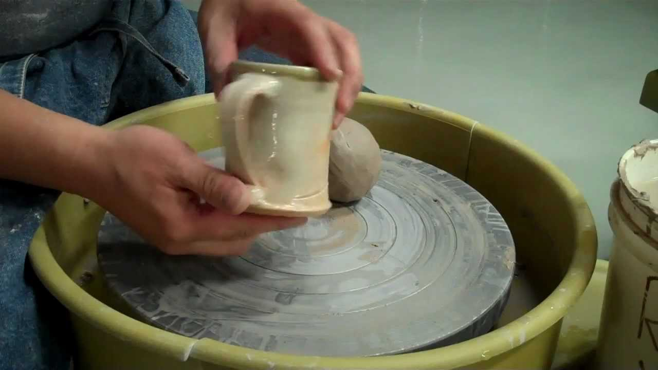 How to make a mug out of clay on the potters wheel for How to make ceramic painting