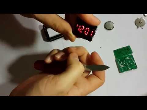 Разбираем китайские светодиодные часы спидометр и адидас. Часть 2.