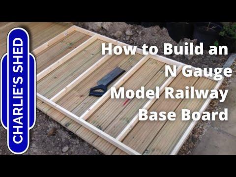 Building a simple baseboard for my N Gauge model railway