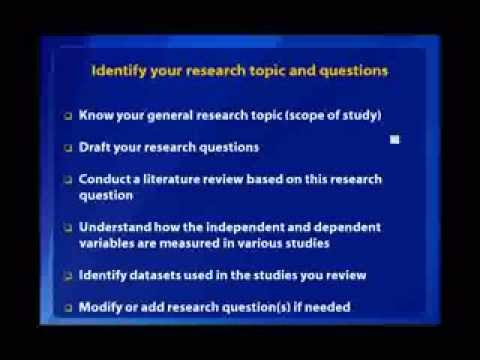 research topics and explanation