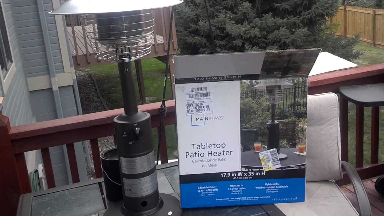 tabletop patio heater affordable solution