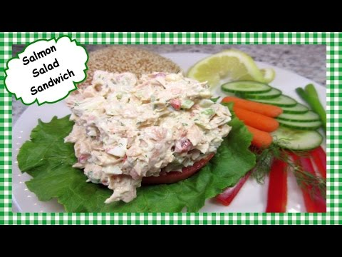 How to Make Salmon Salad Sandwich ~ Leftover Salmon Recipe