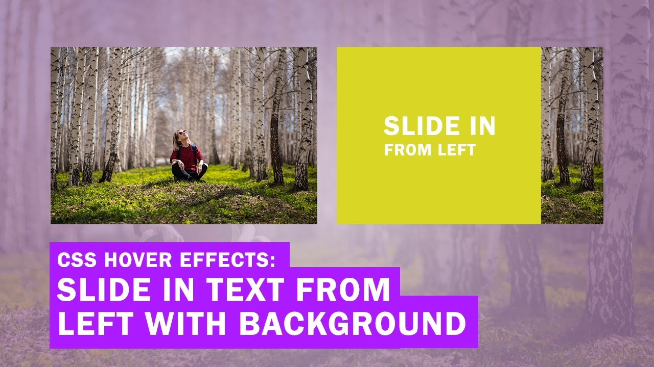 CSS Image Hover Effects: Slide in Text from the Left