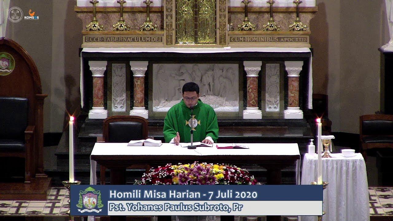 "Homili  Pst. Yohanes Paulus Subroto, Pr "" PENDERITAAN MANUSIA "" - Misa Harian 7"