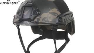 EmersonGear Fast Helmet-PJ type/BJ type/MH type in MultiCam Black color