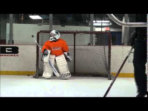7 Year Old Hockey Goalie Practices Youtube