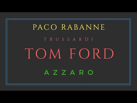 Paco Rabanne. Trussardi. Tom Ford. Azzaro. Мужской парфюм.