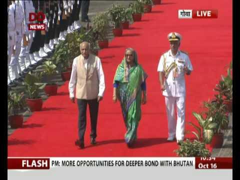 Goa: Bangladesh's Prime Minister Sheikh Hasina arrives at Airport