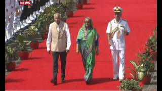 Goa: Bangladesh's Prime Minister Sheikh Hasina arrives at Airport