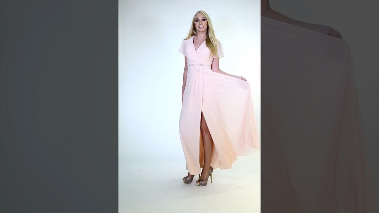 Gewickeltes Kleid mit tiefem Beinschlitz