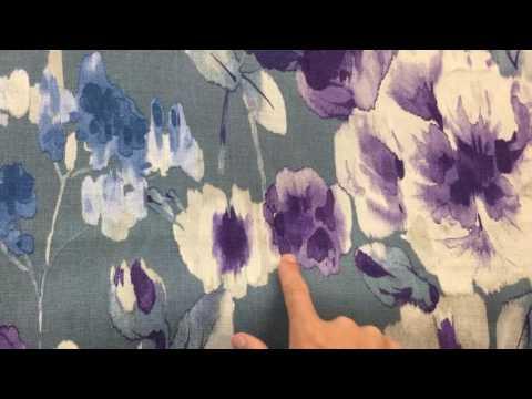 Blue ,Purple And Gray Breamore Drapery Fabric