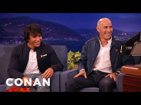 Yves Rossy & Vince Reffet Interview Part 1 01/05/16  - CONAN on TBS