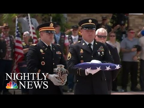 Hilary - Thousands of strangers pay respects to veteran with no family