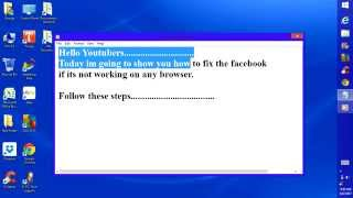 how to fix facebook or youtube not working on any browser