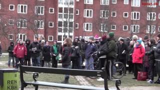 Sammen mod nazisme - demonstration på Mozarts plads 25/1 2014