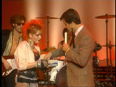 Dick Clark interviews Cyndi Lauper on American Bandstand