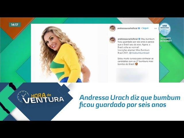 Andressa Urach diz que bumbum ficou guardado por seis anos e o Brasil saiu do eixo