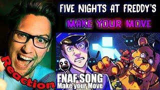 FNAF ULTIMATE CUSTOM NIGHT Song (Make Your Move) by Dawko & CG5 REACTION