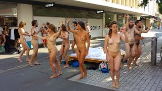 +18, Swiss Government Supported Body and Freedom Festival, contains public nudity(+18, Swiss Government Supported public nudity, Body and Freedom Festival Naked Performance in Urban Space Biel/Bienne, Switzerland August 2015 ..., 2015-09-11T23:45:31.000Z)