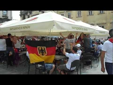 Euro 2012: Germany v Portugal in the Lviv beer party before match v2