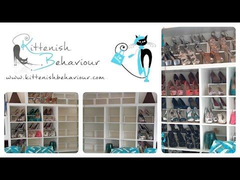 Shoe Storage Hack Using Ikea Shelf Inserts Simple How To