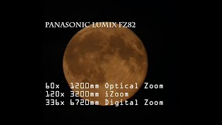 Panasonic Lumix FZ82 Zoom Moon 4k