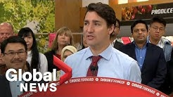 Canada election: Justin Trudeau makes remarks on affordability, tax cuts for 'middle-class'