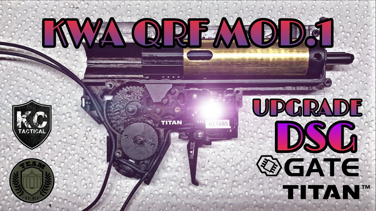 [TECH] KWA QRF Mod.1 GATE Titan Umbau, MAXX Trigger, Retro Arms, HT Motor Tech-Video deutsch/german