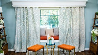 DIY Stenciled Drapes - Home & Family
