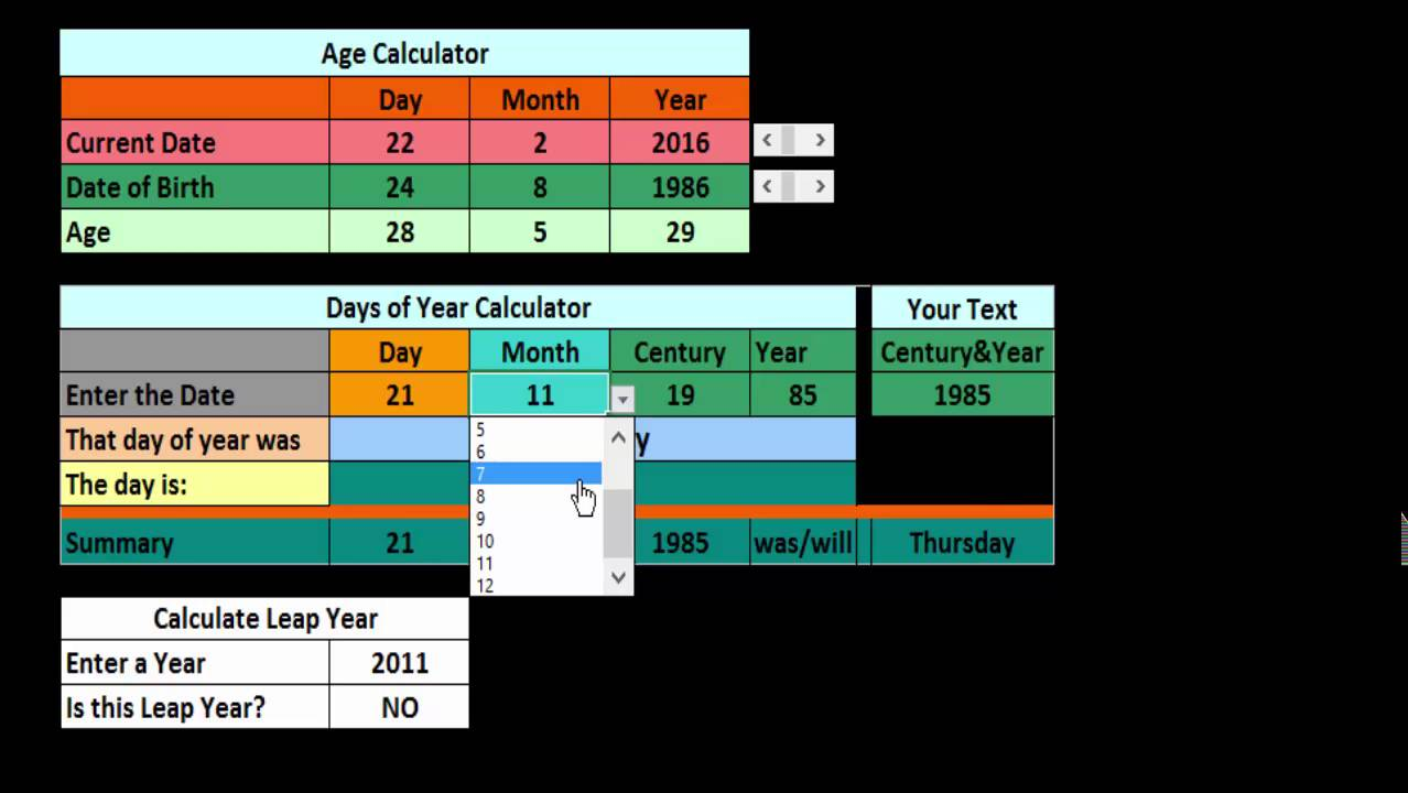 Calculate your age with days and months using android app youtube.