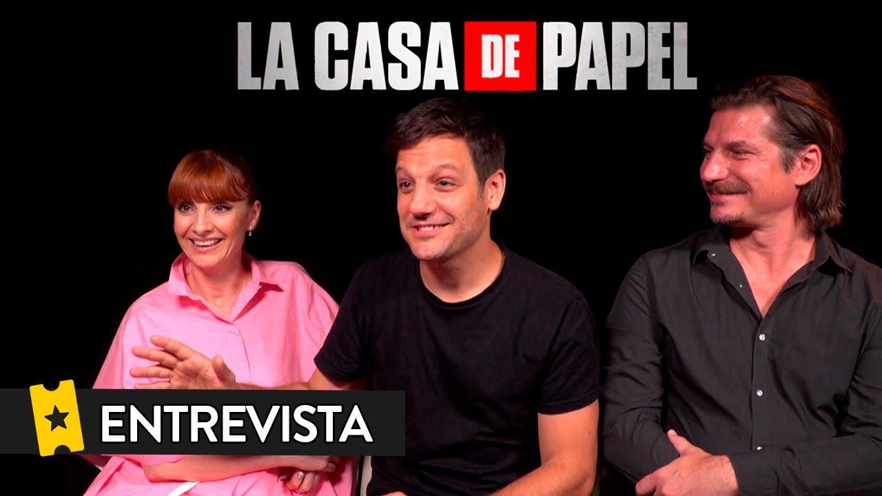 LA CASA DE PAPEL (Temporada 3) | Entrevista a Najwa Nimri, Rodrigo de la Serna y Luka Peros