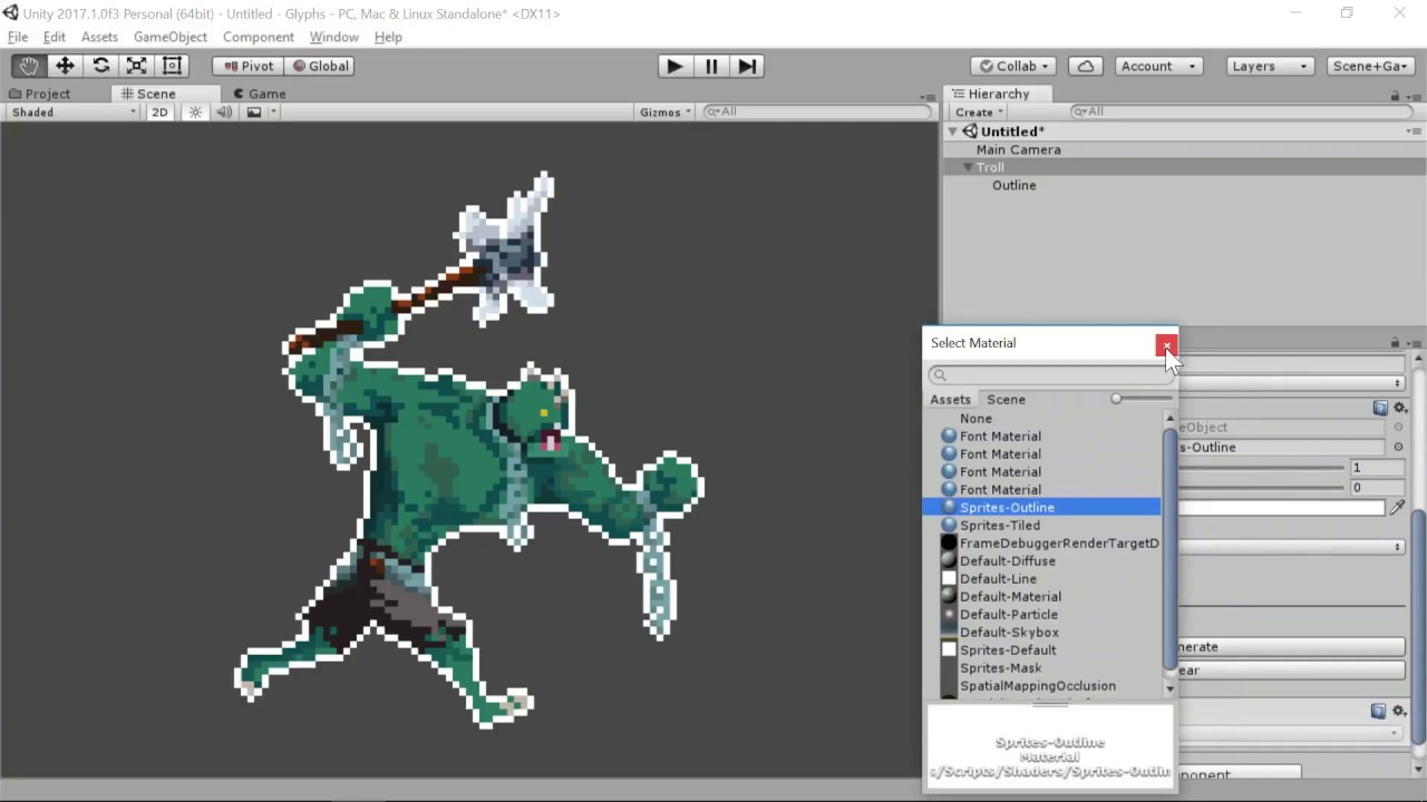 Photoshop-like 2D Sprite Outline / Stroke Effect for Unity